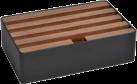 ALLDOCK Stazione di carico 4x USB - Medium - nero/noce