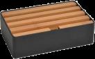 ALLDOCK Ladestation 4x USB - Medium - Schwarz/Bambus