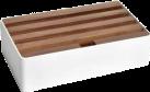 ALLDOCK Ladestation 4x USB - Medium - Weiss/Walnuss