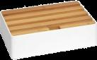 ALLDOCK Ladestation 4x USB - Medium - Weiss/Bambus