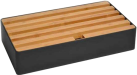 ALLDOCK Station d'acceuil 6x USB - Large - noir/bamboo