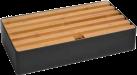 ALLDOCK Ladestation 6x USB - Large - Schwarz/Bambus