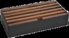 ALLDOCK Stazione di carico 6x USB - Large - nero/noce