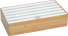 ALLDOCK Station d'acceuil 6x USB - Large - bamboo/blanc