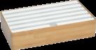 ALLDOCK Ladestation 6x USB - Large - Bambus/Weiss