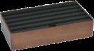 ALLDOCK Ladestation 6x USB - Large - Walnuss/Schwarz