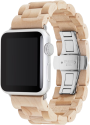 WOODCESSORIES EcoStrap - Apple Watch Holzarmband - 38 mm - Ahorn/Silber