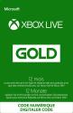 Microsoft Abonnement Xbox Live Gold (Code numérique), 12 mois