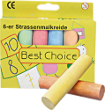 OSMA-WERM - Strassenmalkreide - 6 Stück - Farbig