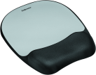 Fellowes Memory Foam - Handgelenkauflage mit Mauspad - Schwarz/Silber