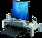 Fellowes Professional Series™ - Workstation per schermo piatto - Altezza regolabile - Nero/Argento
