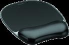 Fellowes Gel Crystal™ - Tapis de souris repose poignet - Noir