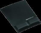 Fellowes Health-V™ - Tapis de souris Repose poignets avec couvercle en tissu - Noir