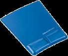 Fellowes Health-V™ - Tapis de souris Repose poignets avec couvercle en tissu - Bleu