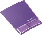 Fellowes Health-V™ Crystal - Mousepad con supporto polsi - Viola