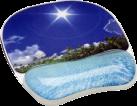 Fellowes Photo Gel™ - Tapis de souris Repose poignets - Bleu