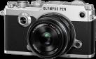 OLYMPUS PEN-F Kit, 21.8 MP, 17 mm, argent/noir