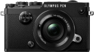 OLYMPUS PEN-F Pancake Zoom Kit - Fotocamera digitale - M.ZUIKO DIGITAL ED 14‑42mm 1:3.5‑5.6 EZ Pancake - Nero/Nero