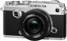 OLYMPUS PEN-F Pancake Zoom Kit - Appareil photo numérique - M.ZUIKO DIGITAL ED 14‑42mm 1:3.5‑5.6 EZ Pancake - Argent/Noir