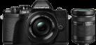 OLYMPUS E-M10III Double Zoom Kit - Appareil photo numérique - Avec Objectif - Noir