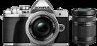 OLYMPUS E-M10III Double Zoom Kit - Appareil photo numérique - Avec Objectif - Argent