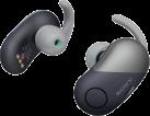 SONY WF-SP700N - Cuffie wireless per lo sport - Con eliminazione del rumore - Nero/Argento