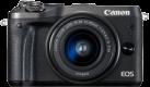 Canon EOS M6 + EF-M 15-45 mm - Systemkamera - 24.2 MP - Schwarz