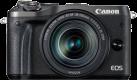 Canon EOS M6 + EF-M 18-150 mm - Systemkamera - 24.2 MP - Schwarz