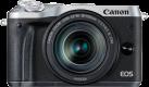 Canon EOS M6 + EF-M 18-150 mm - Systemkamera - 24.2 MP - Silber