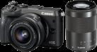 Canon EOS M6 + EF-M 15-45 mm + EF-M 55-200 mm - Systemkamera - 24.2 MP - Schwarz