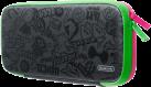 Nintendo Switch Tasche + Schutzfolie - Splatoon 2 Edition - Grau/Pink/Grün
