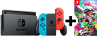 Nintendo Switch + Splatoon 2 - Rot/Blau