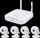VIVOTEK WiFi NVR Bundle - ND8212W+IP8160-W - Bianco
