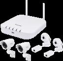 VIVOTEK Wi-Fi NVR Kit - Sistema di videosorveglianza - Risoluzione: 1920 x 1080 (Full HD) - Bianco