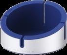 Just Mobile AluCup Grande - Design Halterung - Für iPhones - Blau/Silber