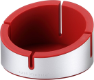 Just Mobile AluCup Grande - Support Design - pour iPhone - Rouge / Argent