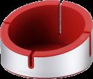 Just Mobile AluCup Grande - Design Halterung - Für iPhones - Rot/Silber