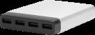Just Mobile AluCharge - Multi-Port USB-Ladegerät - 4 USB Ports - Silber