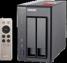 QNAP TS-251+8GB - NAS-Server - 2 Schächte - Grau