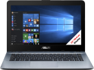 Asus X441SA-WX107T - Notebook - LED-Display 14 / 35.6 cm - Schwarz/Silber