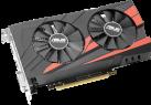 ASUS EX-GTX1050TI-4G - Scheda grafica - 4 GB GDDR5 - Nero/Rosso