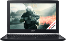 Acer Aspire V 15 Nitro 7-593G-70JS - Gaming Notebook - Intel Core i7-7700HQ (2.8 GHz) - Schwarz