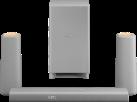 PHILIPS CSS5330G/12 - Zenit Heimkino-Lautsprecher - 3.1 - HDMI 4K-2K - Grau