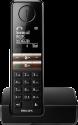 PHILIPS D4601B/01 - Telefono fisso senza fili - Schermo 4.6 cm - Nero