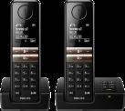 PHILIPS D4652B/01 - Telefono fisso senza fili - Schermo 4.6 cm - Nero