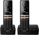PHILIPS D4652B/01 - Schnurloses Telefon - 4.6 cm Display - Schwarz
