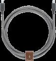 NATIVE UNION NU-BELT-KV-C-ZEB - Lade- und Sync- Kabel - 2.4 m - Schwarz/Weiss