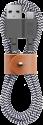 NATIVE UNION NU-BELT-KV-AC-ZEB - Lade und Sync-Kabel - 1.2 m - Schwarz/Weiss