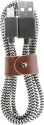 NATIVE UNION NU-BELT-MUSB-ZEB-2 - Lade und Sync-Kabel - 1.2 m - Schwarz/Weiss