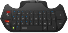 PIRANHA PS4 Chat Pad with Audio (QWERTY), Schwarz